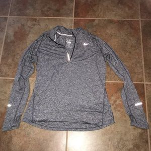 Nike Dri-Fit Gray Half Zip